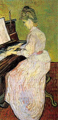 Vincent Van Gogh Marguerite Gachet at the Piano, Auvers-sur-Oise, June 1890