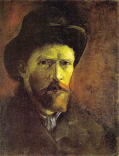 Vincent Van Gogh Self Portrait with Dark Felt Hat 1886