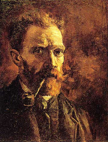 Vincent Van Gogh Self - Portrait with Pipe, Paris, Spring 1886