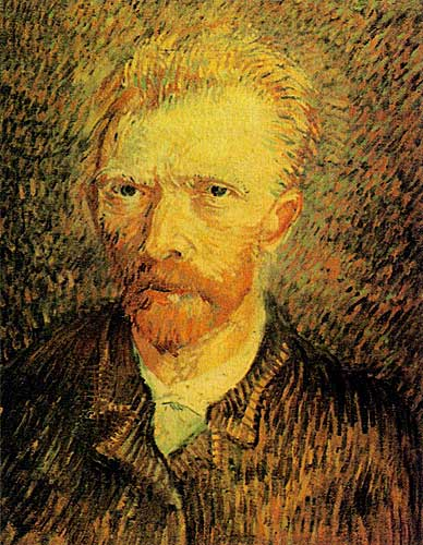 Vincent Van Gogh's Oils, Self Portrait Paris Winter 1887