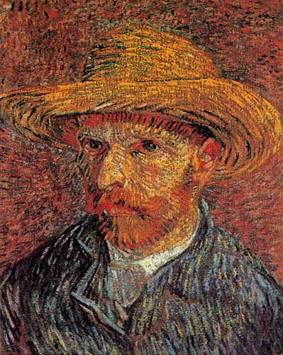 Vincent Van Gogh Self Portrait with Straw Hat Paris Winter 1887