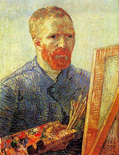 Vincent Van Gogh Self-Portrait in Front of the Easel Paris early 1888