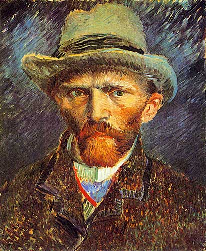 Vincent Van Gogh - Self Portrait with Grey Felt Hat, Paris, Winter
