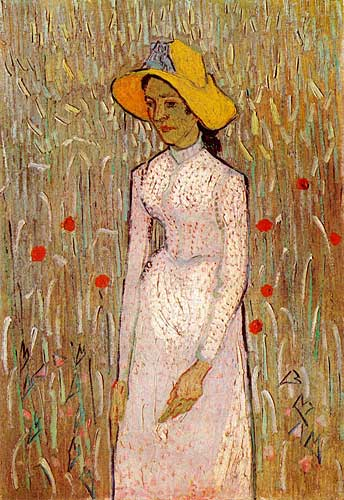 Vincent Van GoghYoung Girl Standing against a Background of Wheat, Auvers-sur-Oise, late June 1890