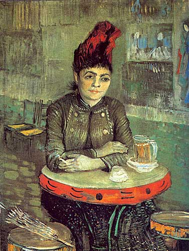 Vincent Van Gogh Agostina Segatori Sitting in the Cafe du Tambourin Paris