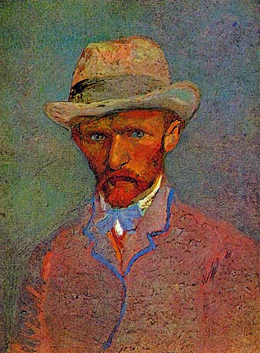 Van Gogh Self - Portrait with Grey Felt Hat Paris, March April 1887